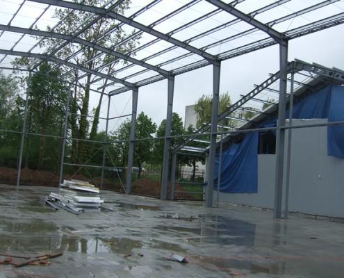 hala magazynowo garażowa Chojnów konstrukcja stalowa