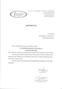 Referencje od firmy Lorpio