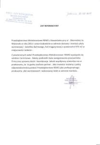 Referencje PHU Wengrzyn