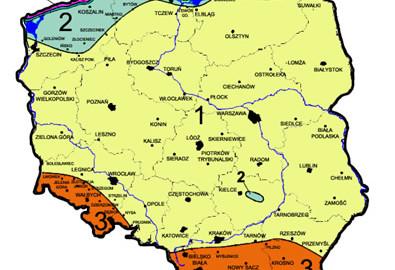 strefy wiatrowe w Polsce