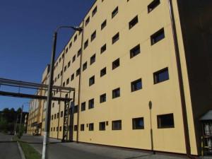 Elewacja hali produkcyjnej w Wolbromiu