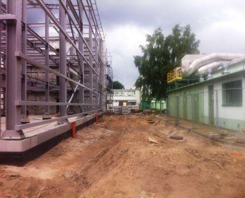 Centrum Badawcze Nawozów z płyty obornickiej konstrukcja stalowa