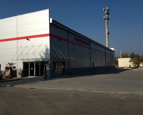market budowlany z obudową z płyt warstwowych Olkusz