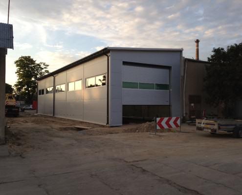 stacja kontroli Mosina z płyt warstwowych