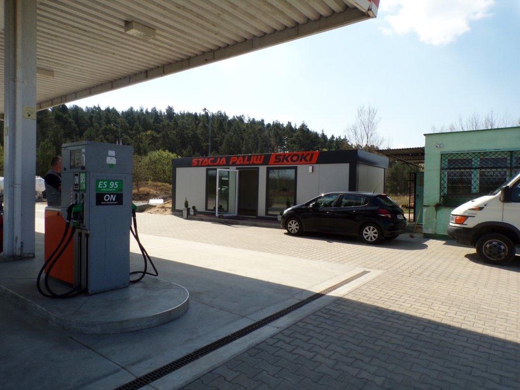 Pawilon usługowy stacja paliw SKOKI